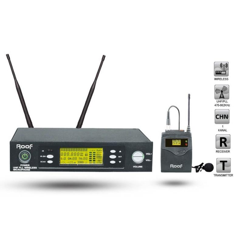 Roof R-1150S Y UHF Dijital Telsiz Yaka Mikrofonu