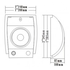 MCS WM-501 13 Cm Duvar Tipi Hoparlör