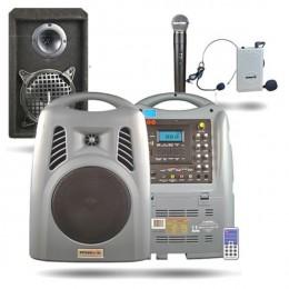 Osawa OSW-8180H 125 Watt El+Yaka Mikrofonlu Portatif Taşınabilir Şarjlı Anfi