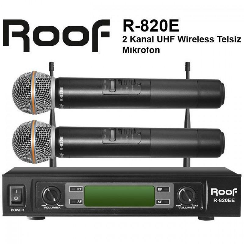 Roof R-820E UHF Telsiz 2 El Mikrofon