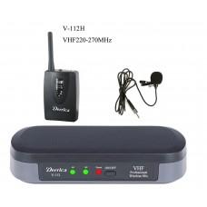 Derrica V-112H VHF Kablosuz Yaka Mikrofon