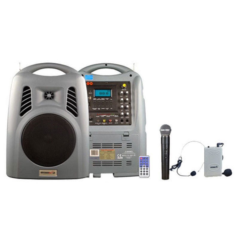 Osawa OSW-8180 125 Watt El+Yaka Mikrofonlu Portatif Taşınabilir Şarjlı Anfi