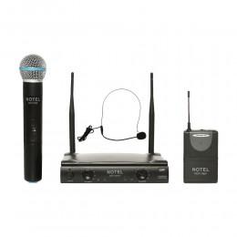 Notel NOT 700 EY UHF Tek Kanal Kablosuz 1 El + 1 Headset Mikrofon
