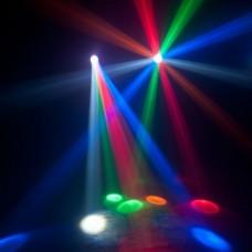 ADJ Monster Beam Kırmızı, Yeşil, Mavi, Kehribar & Beyaz Işınlara Sahip LED DMX Moonflower Efekti