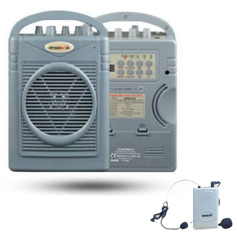 Osawa OSW-8102Y 50 Watt Yaka Mikrofonlu Portatif Taşınabilir Şarjlı Anfi