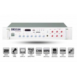 Dexun PA-2512 120 Watt Hat Trafolu 6 Bölgeli Anfi