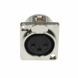Accu-Cable AC-C-XF3 3 Pin Şase Tipi XLR Dişi Fiş