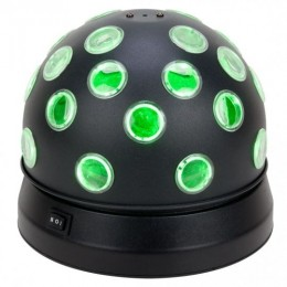 ADJ Mini TRI Ball II Kolay Kullanılabilir Çift Rotasyonlu Toplar 56 Adet Sese Duyarlı Işın Oluşturur
