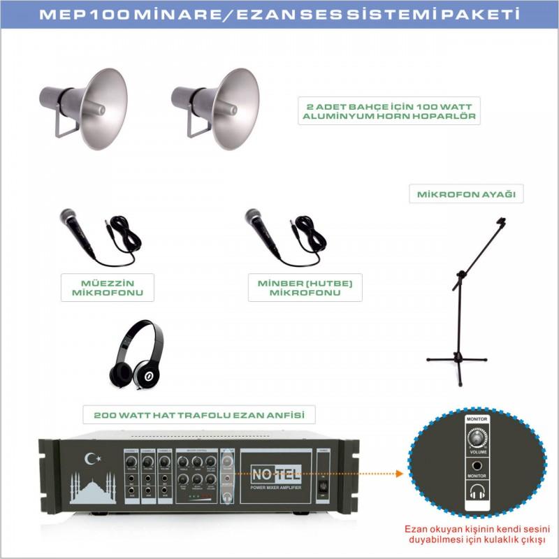 Notel MEP 100 Minare Ezan Ses Sistemi Paketi