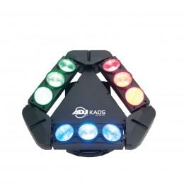 ADJ KAOS 3 adet 3-Zone LED Takip İle Kombine Edilmiş Hızlı Tarama Yapan Dar Işınlı Eşsiz Işıklandırma Tesisatı