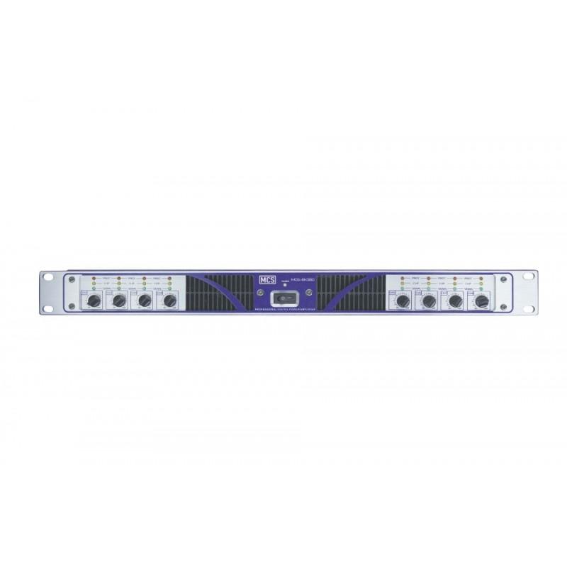 MCS 8K380 8x380 Watt RMS D Class Power Amplifikatör