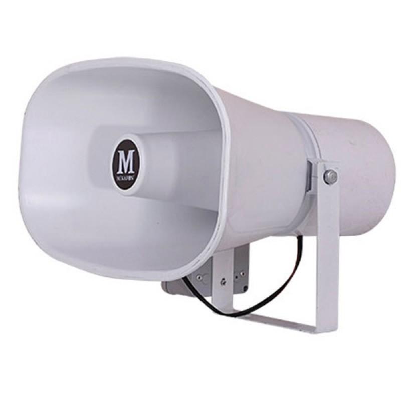 Mikafon HP75S 75W/16 Ohm Plastik Yassı Harici Horn Hoparlör