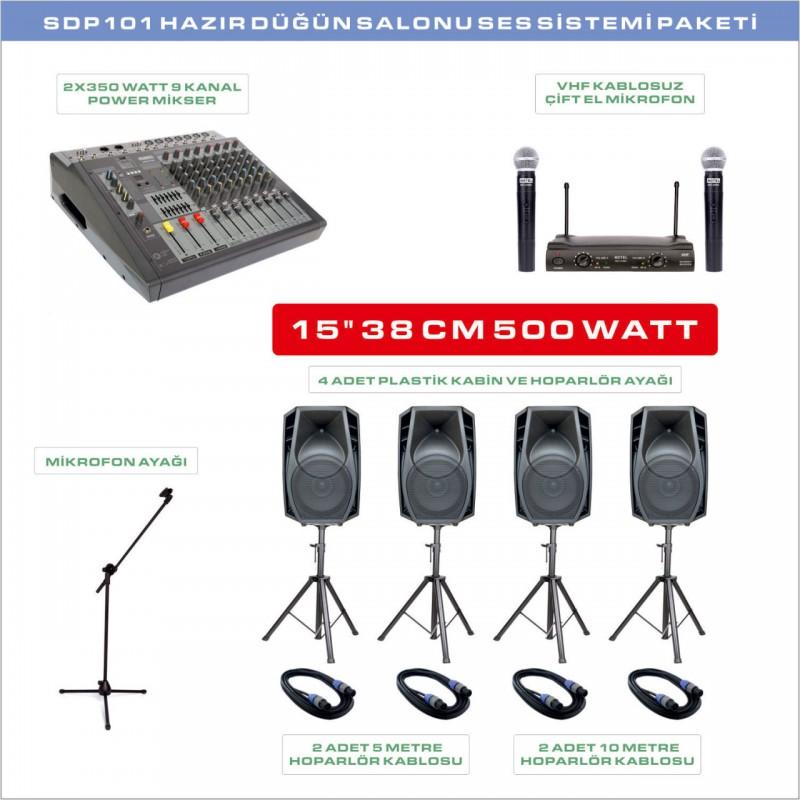Notel SDP 101 Düğün Salonu Ses Sistemi Paketi