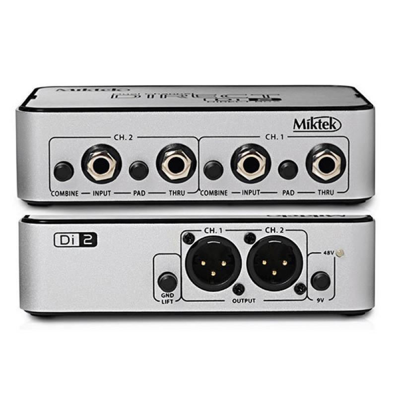Miktek DI-2 Çift Kanallı Active Direct Box