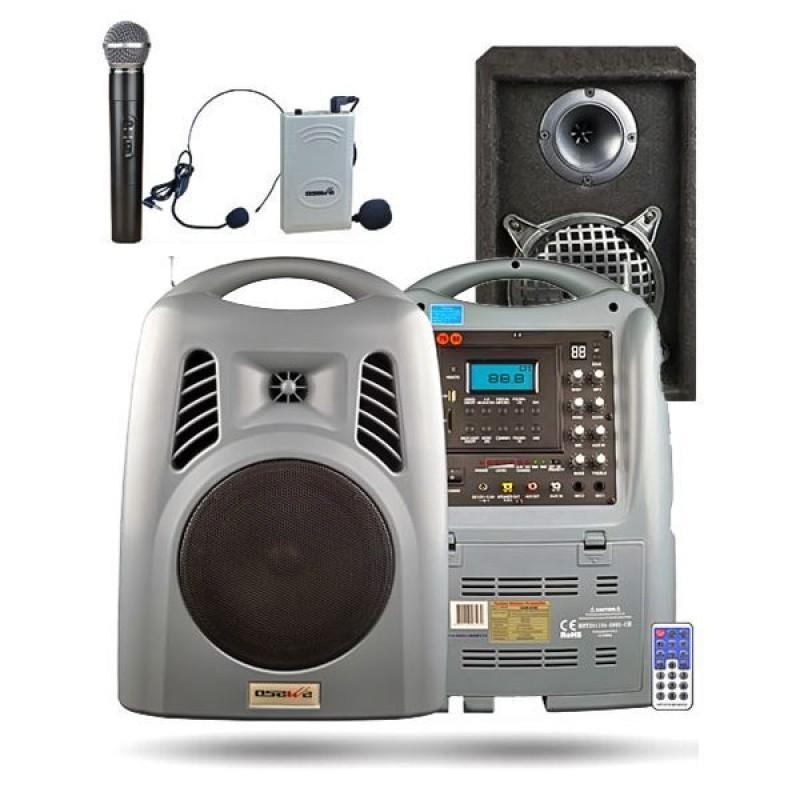 Osawa OSW-8190H 125 Watt El+Yaka Mikrofonlu Portatif Taşınabilir Şarjlı Anfi