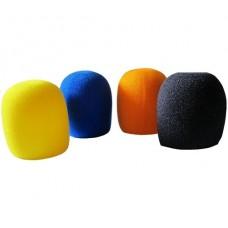 4 adet Mikrofon Rüzgarlığı (Sarı-Mavi-Turuncu-Siyah)