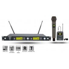 Roof R-1250S EY UHF Dijital Kablosuz 1 El + 1 Yaka Mikrofon