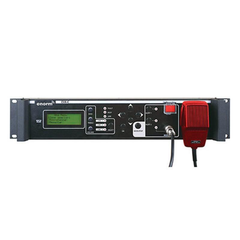 Enorm EVA-C, 10 Bölge Kontrollü Dijital Anons Kontrollü, Acil Mesaj Modüllü 10x10 Kontaklı Kontrol Ünitesi