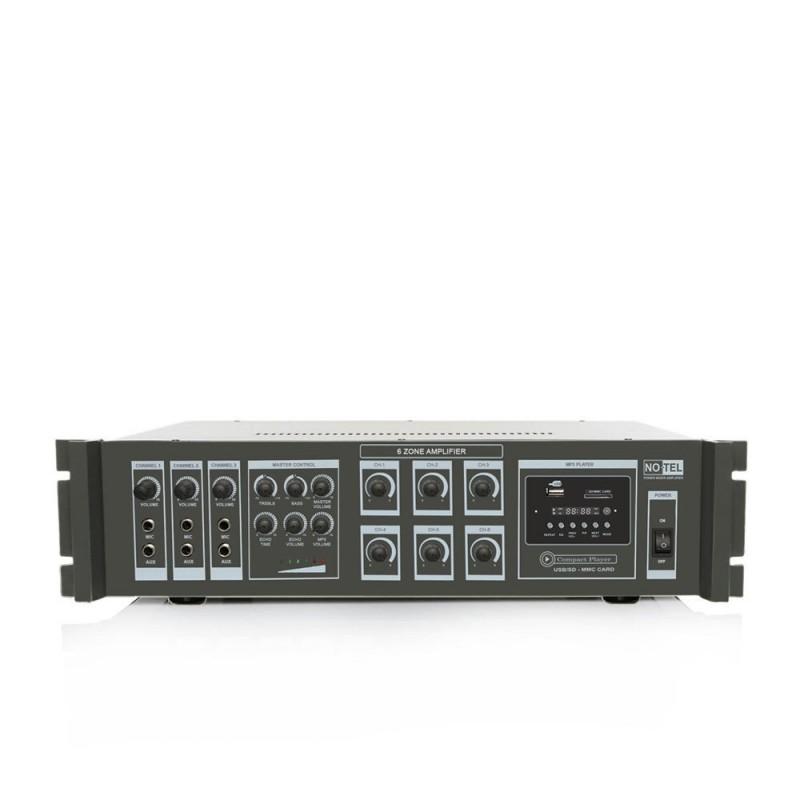 Notel NOT A 406T 400 Watt 6 Bölgeli Mp3 Çalarlı Hat Trafolu Mikser Anfi