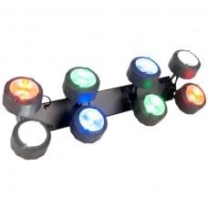 ADJ Octo Beam RGBW Modern LED Rotasyon Fonksiyonu İle Klasik Disko Işıklandırma Efekti Üretir