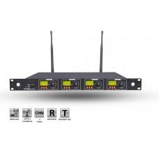 Roof R-4004 4 Kanal UHF Kablosuz Mikrofon Alıcısı