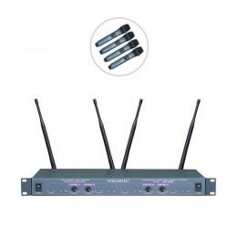 Bots WR-4800 UHF Dörtlü Kablosuz El Mikrofon
