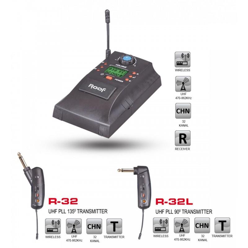 Roof R-32 Enstrüman Tipi Kablosuz Mikrofon