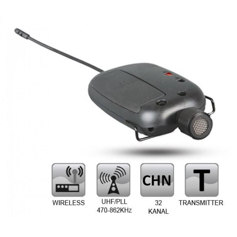 Roof R-9 UHF Mini Yaka Mikrofon Vericisi