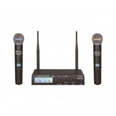 Notel NOT 800 EE 2x100 Kanal UHF Kablosuz Telsiz Çift El Mikrofon