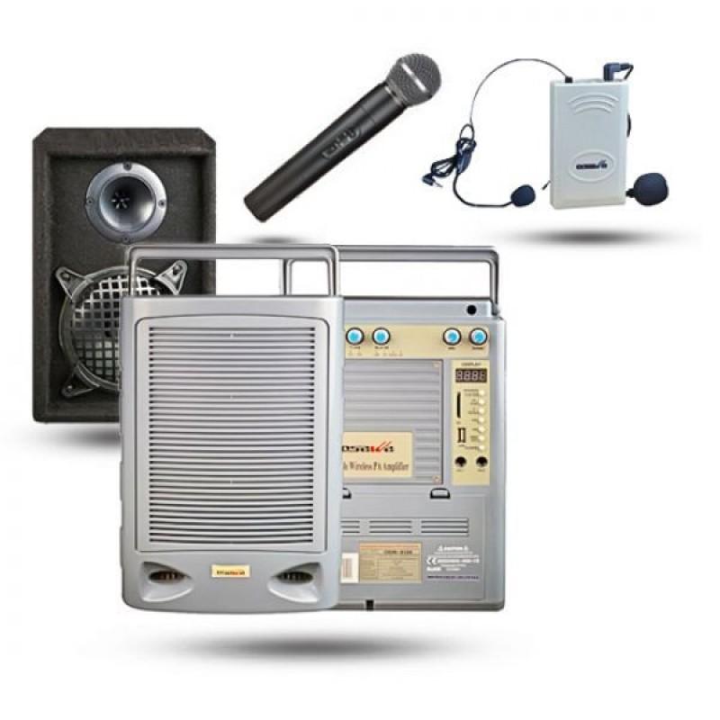 Osawa OSW-8120H 75 Watt El+Yaka Mikrofonlu Portatif Taşınabilir Şarjlı Anfi