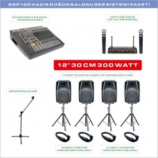 Notel SDP 100 Düğün Salonu Ses Sistemi Paketi