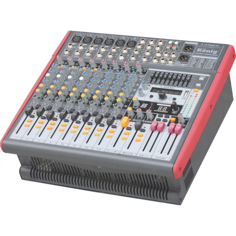 König K-12 P650 12 Kanal Power Mikser