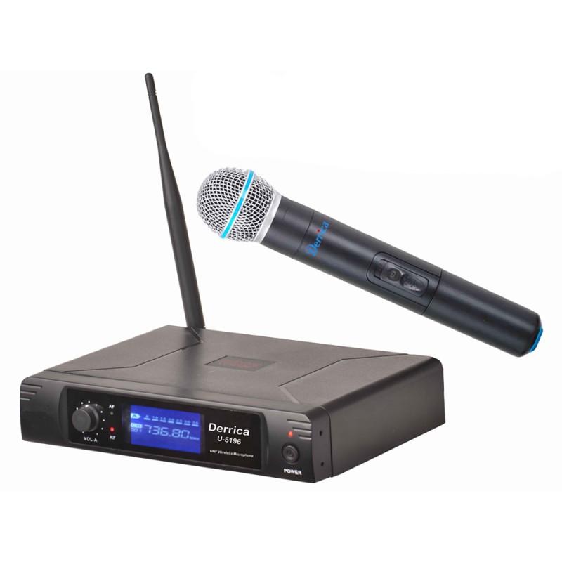 Derrica U-5196M UHF Kablosuz El Mikrofon