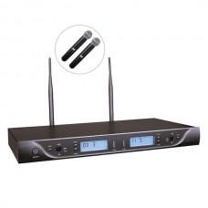 Bots BK-302 E UHF İkili Kablosuz El Mikrofon