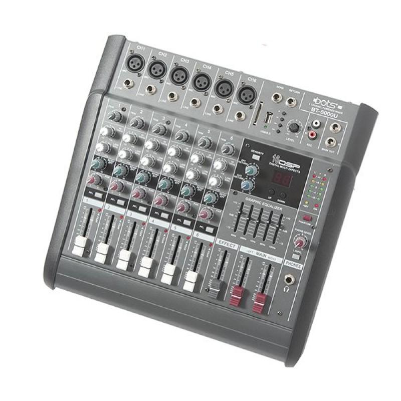 Bots BT-6000U 6 Kanal Power Mikser