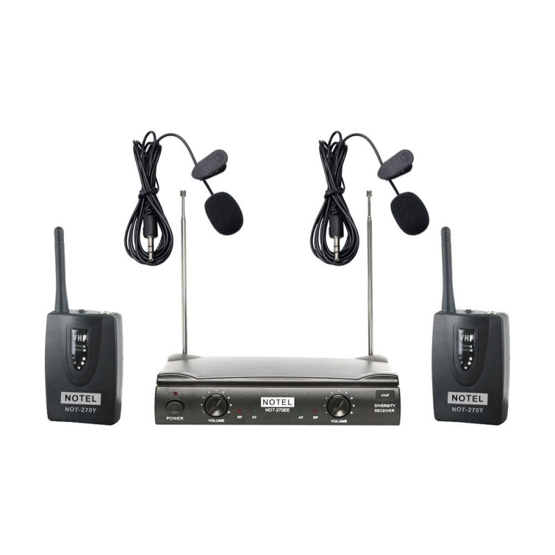 Notel NOT 270 YY VHF Sabit Kanal Kablosuz Çift Yaka Mikrofon