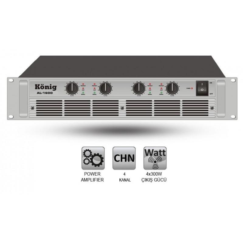 König AL-1600/S 4x300 Watt Power Anfi