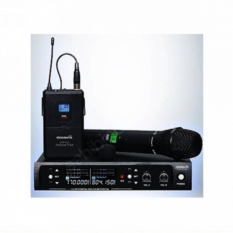 Dexun D-550EY UHF Dijital İki Kanal Telsiz Çift Yaka Mikrofon