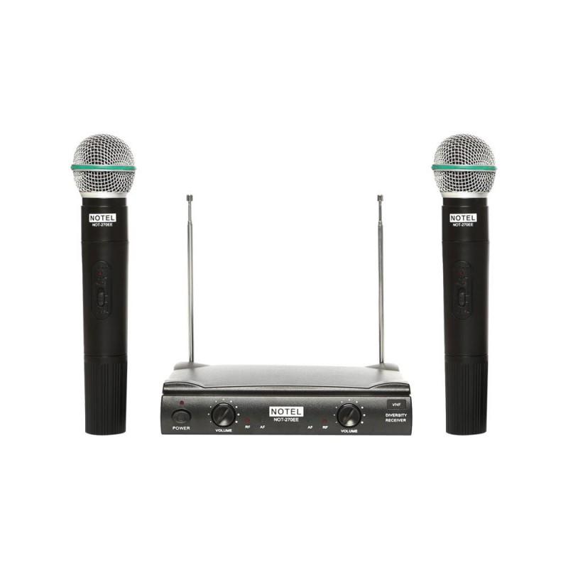 Notel NOT 270 EE VHF Kablosuz Çift El Mikrofon