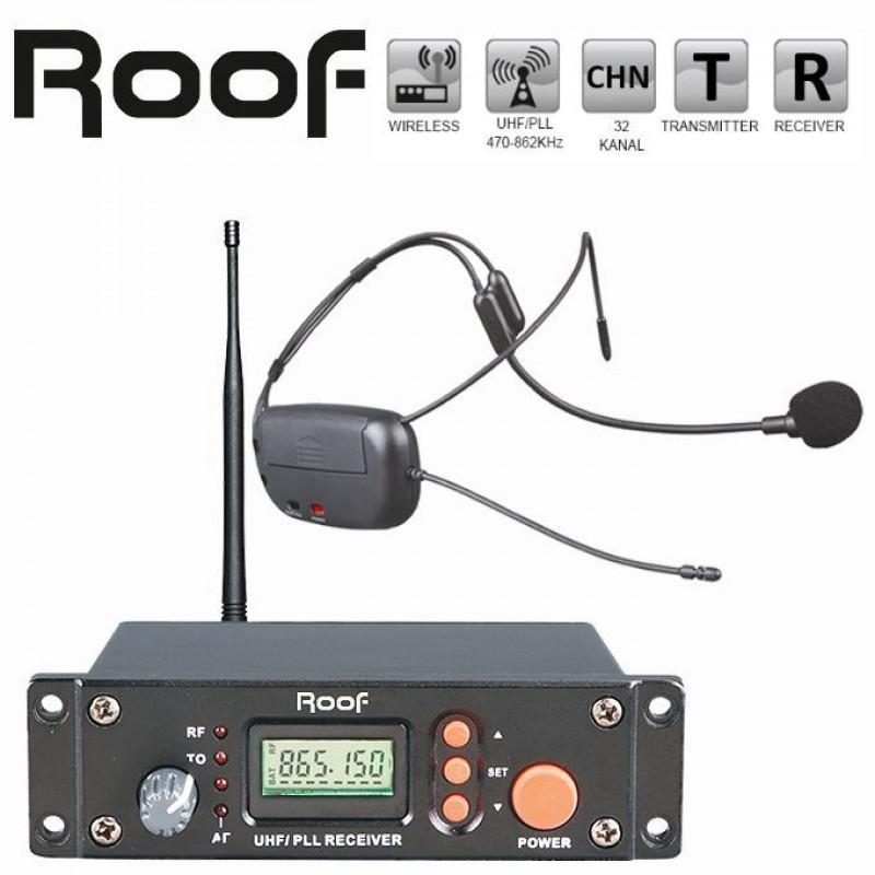 Roof R-8 Headset Kafa Tipi Telsiz Mikrofon