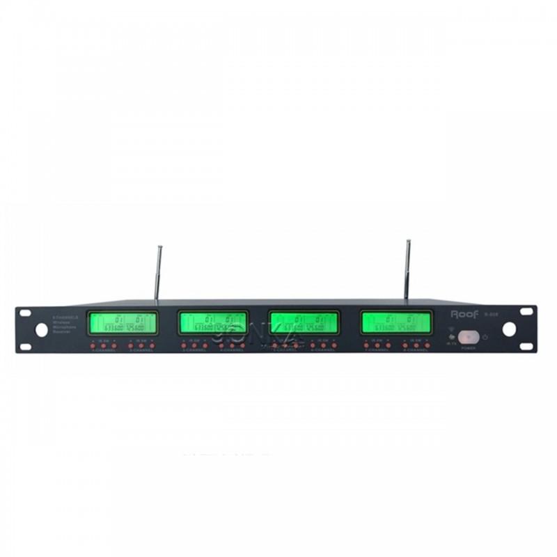 Roof  R-808 8 Kanal UHF Kablosuz Mikrofon Alıcısı
