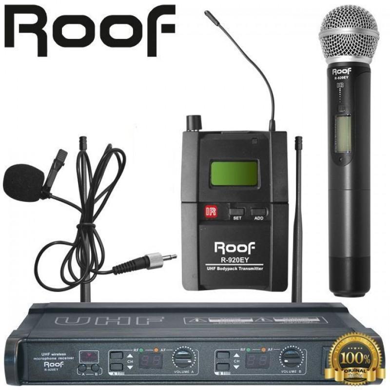 Roof R-920EY UHF Dijital Telsiz 1 El + 1 Yaka Mikrofon