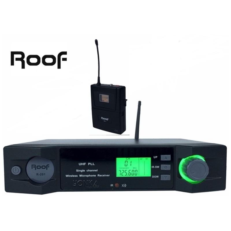 Roof R-201Y Uhf Band Dijital Yaka Tipi Telsiz Kablosuz Mikrofon