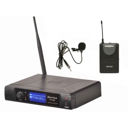 Derrica U-5196H UHF Kablosuz Yaka Mikrofon
