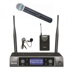 Derrica U-5296MH UHF Kablosuz El+Yaka Mikrofon