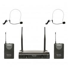 Notel NOT 700 YY UHF Tek Kanal Kablosuz Çift Headset Mikrofon