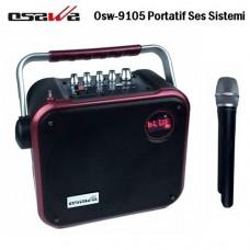 Osawa OSW-9105 60 Watt Portatif Taşınabilir Şarjlı Anfi