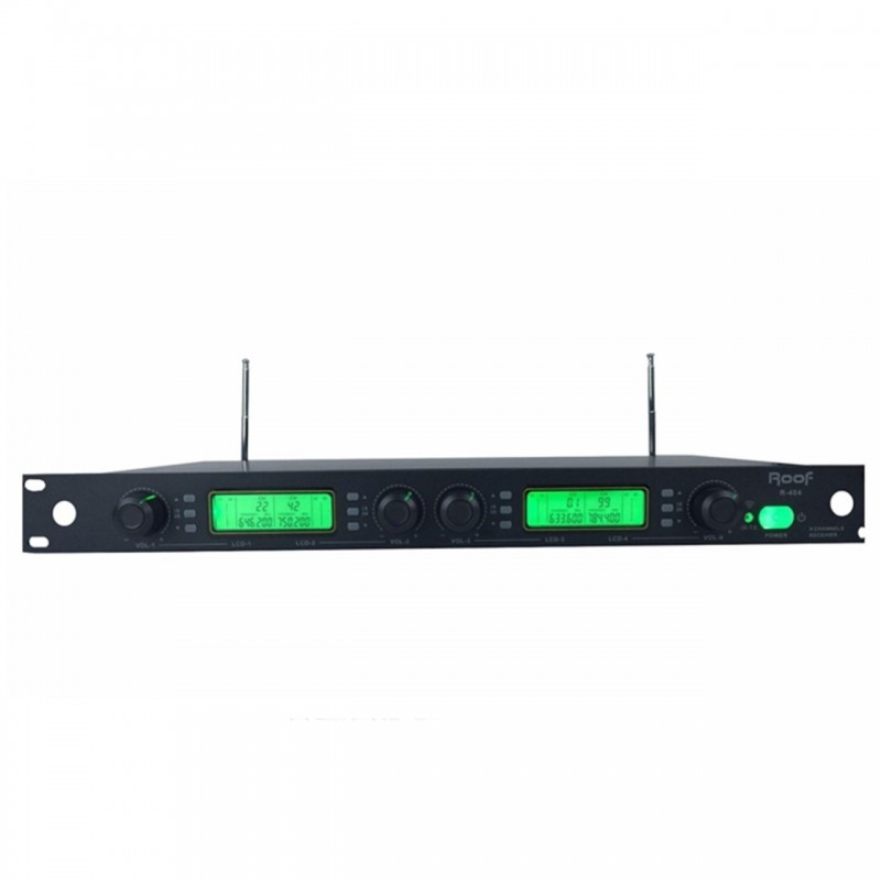 Roof  R-404 4 Kanal UHF Kablosuz Mikrofon Alıcısı
