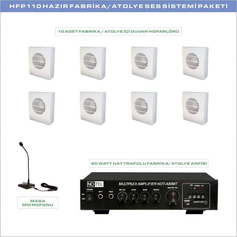 SFP 110 Hazır Fabrika Atolye Ses Sistemi Paketi